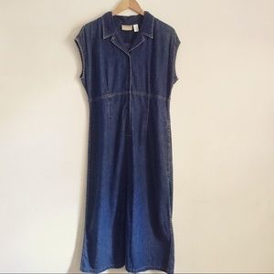 Vintage 90's Liz Claiborne Denim Maxi Dress